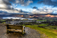 View of Derwentwater and Keswick village from Latrigg.