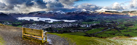 View over Derwentwater and Keswick - Lake District.