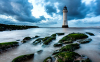 Perch Rock Lighthouse At Sunset - Cheshire