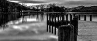 First Light Over Coniston Jetty - Lake District