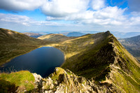 Striding Edge & Red Tarn as seen from Helvellyn Summit.